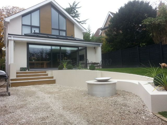 Parex project through coloured render Ashley Cross, Poole